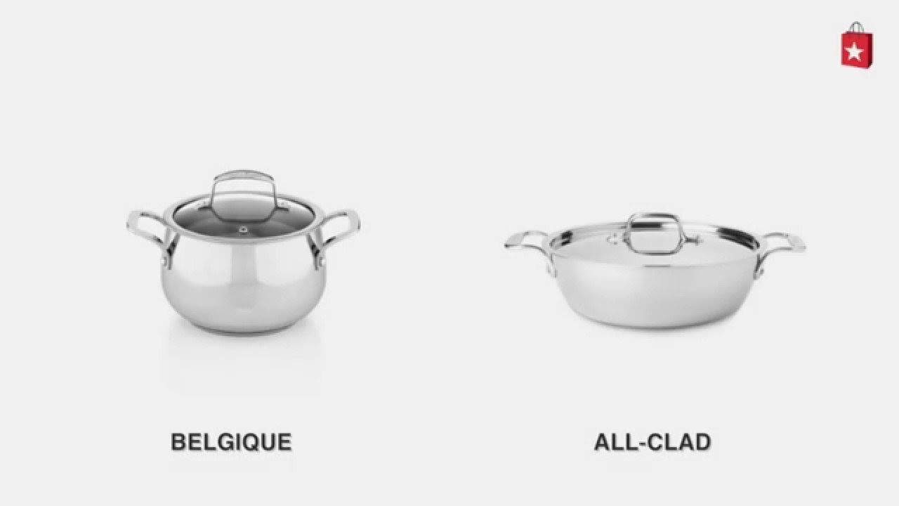 allclad stainless steel 3 qt covered cassoulet comparison video