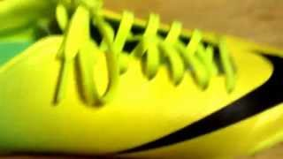 Unboxing nike mercurial victory IV IC yellow/lime green