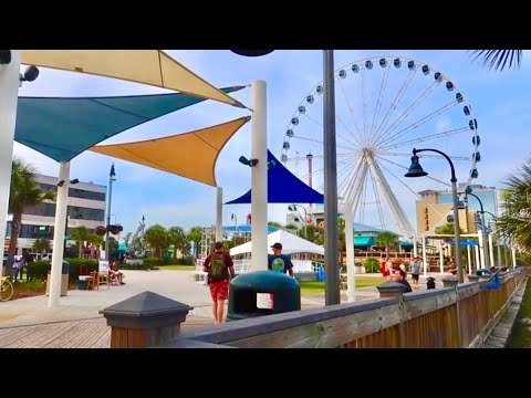 Evening at MYRTLE BEACH BOARDWALK - Tour and Overview