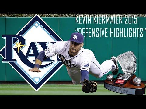Kevin Kiermaier | Tampa Bay Rays | 2015 Platinum Glove Defensive Highlights Mix | HD