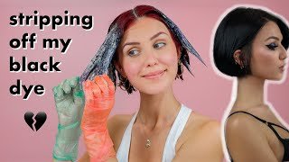 Trying to Remove my Black Hair Dye