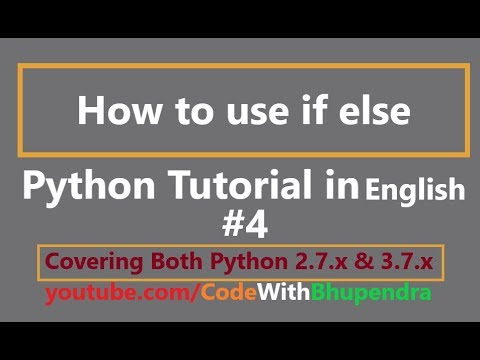 Python Programming Tutorial | How to use if else in Python | English thumbnail