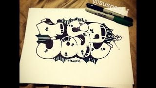 Step By Step - How To Draw Graffiti Letters - Write Jose in Graffiti for Beginners