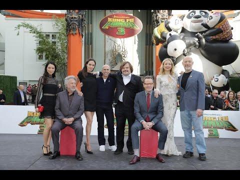 Kung Fu Panda 3 World Premiere Red Carpet - Angelina Jolie, Jack Black, Kate Hudson, Bryan Cranston