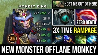 OMG 3x Rampages in the Fountain | NEW Monster Offlane Monkey King Ultra Carry 23Kills Zero Death