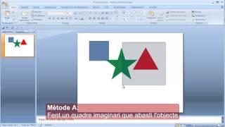 Operacions amb objectes al Powerpoint - 01: Seleccionar i Deseleccionar