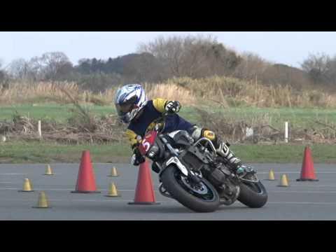 2016 3 20 Dunlop Moto Gymkhana King of Gymkhana Sakuta 選手 MT-07 heat 2
