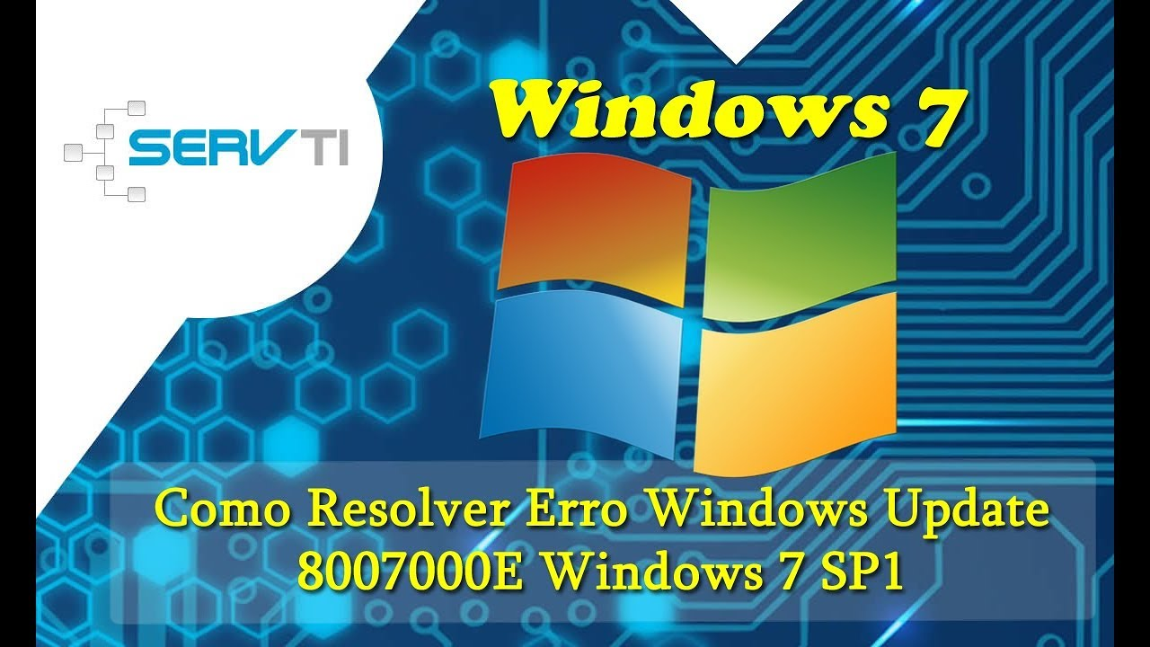Como Resolver Erro Windows Update 8007000E Windows 7 SP1