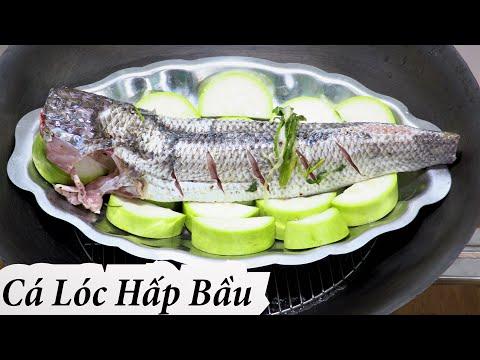 cách làm cá lóc hấp bầu đơn giản