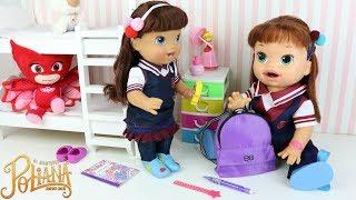 Baby Alive As Aventuras de Poliana indo pra Escola com Valentina a nova Estudante da Escolinha Ruth