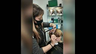 ПИКСИ Модная женская стрижка на короткие волосы Women haircut Салон красоты La Familia Бровары