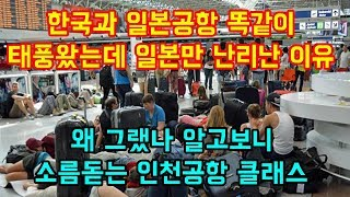 한국과 일본공항 똑같이 태풍이 왔는데 일본만 난리난 이유