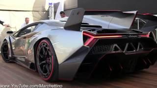 YouSUVE com   Lamborghini Veneno LOUD Exhaust SOUND   2x Start and Moving webm