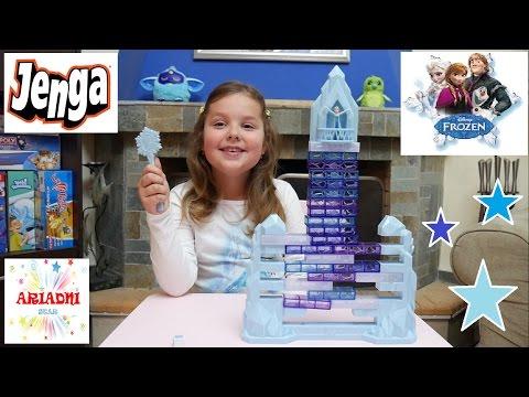 JENGA FROZEN ❄⛄ ΨΥΧΡΑ ΚΙ ΑΝΑΠΟΔΑ  επιτραπέζιο παιχνίδι για παιδιά βίντεο για παιδιά   ελληνικα greek