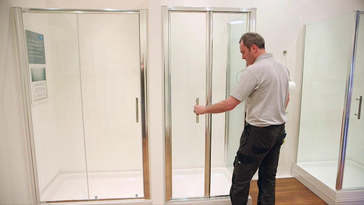Coram Showers Optima Bifold Shower Enclosure Doors Explained Youtube