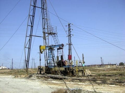 Pumpjacks of Baku, Baku Region, Azerbaijan, Eurasia