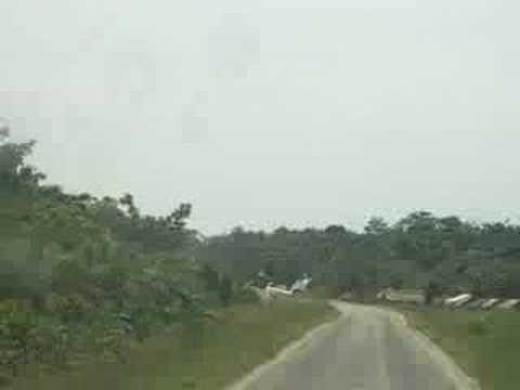 Crazy Pilots Taking off from Congo small road