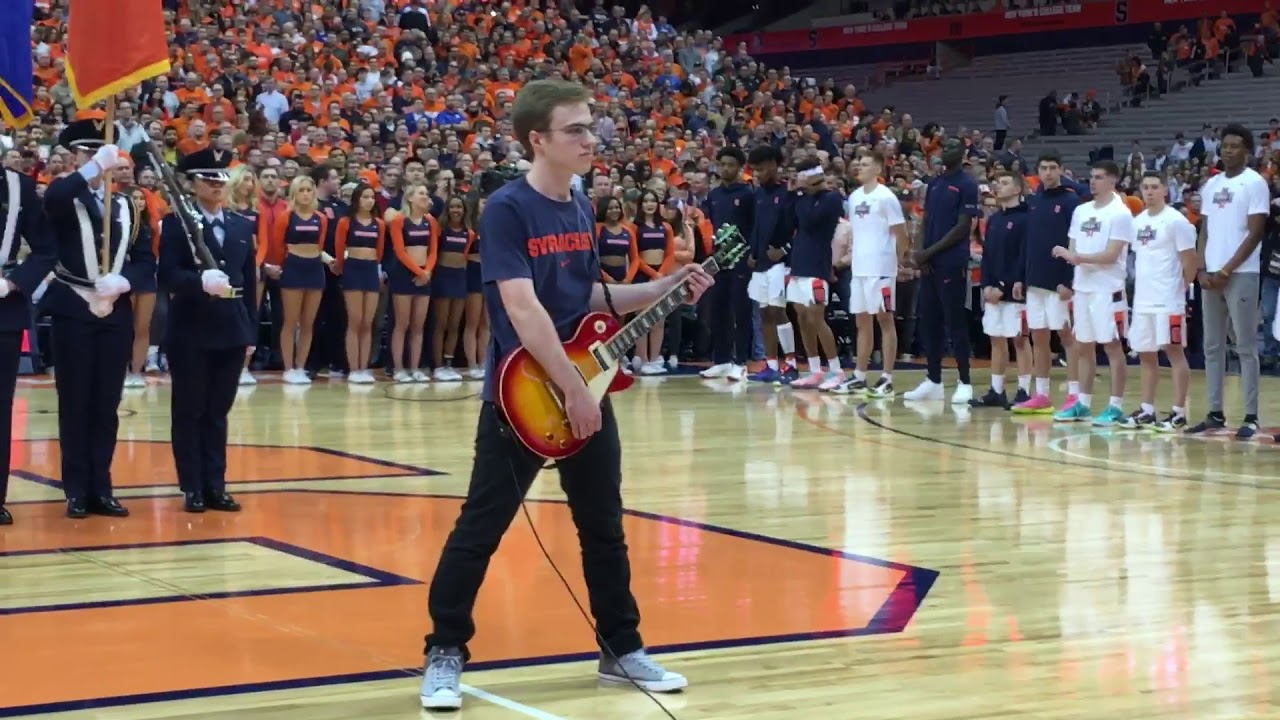Auburn native who performed anthem at Syracuse-Duke game performs in FL1 Studio (video)
