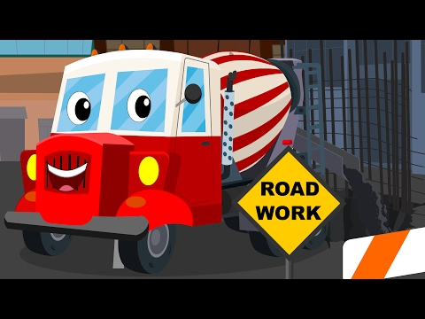 Cement Mixer Truck | Car Rhymes For Children | Cars baby songs