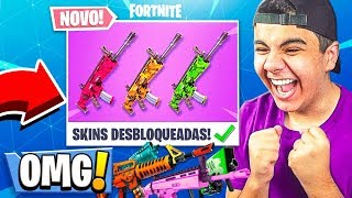 Fortnite: * NEW * SKINS FOR WEAPONS ADDED to the GAME! * LEAKAGE * ‹ DENGOSO ›