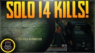 Solo First Person 14 Kills! (PLAYERUNKNOWN'S BATTLEGROUNDS)