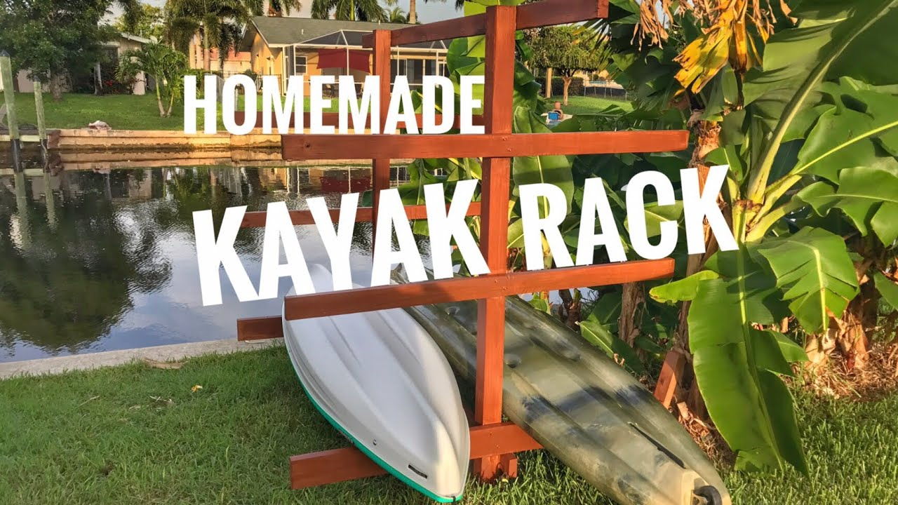 homemade kayak rack youtube