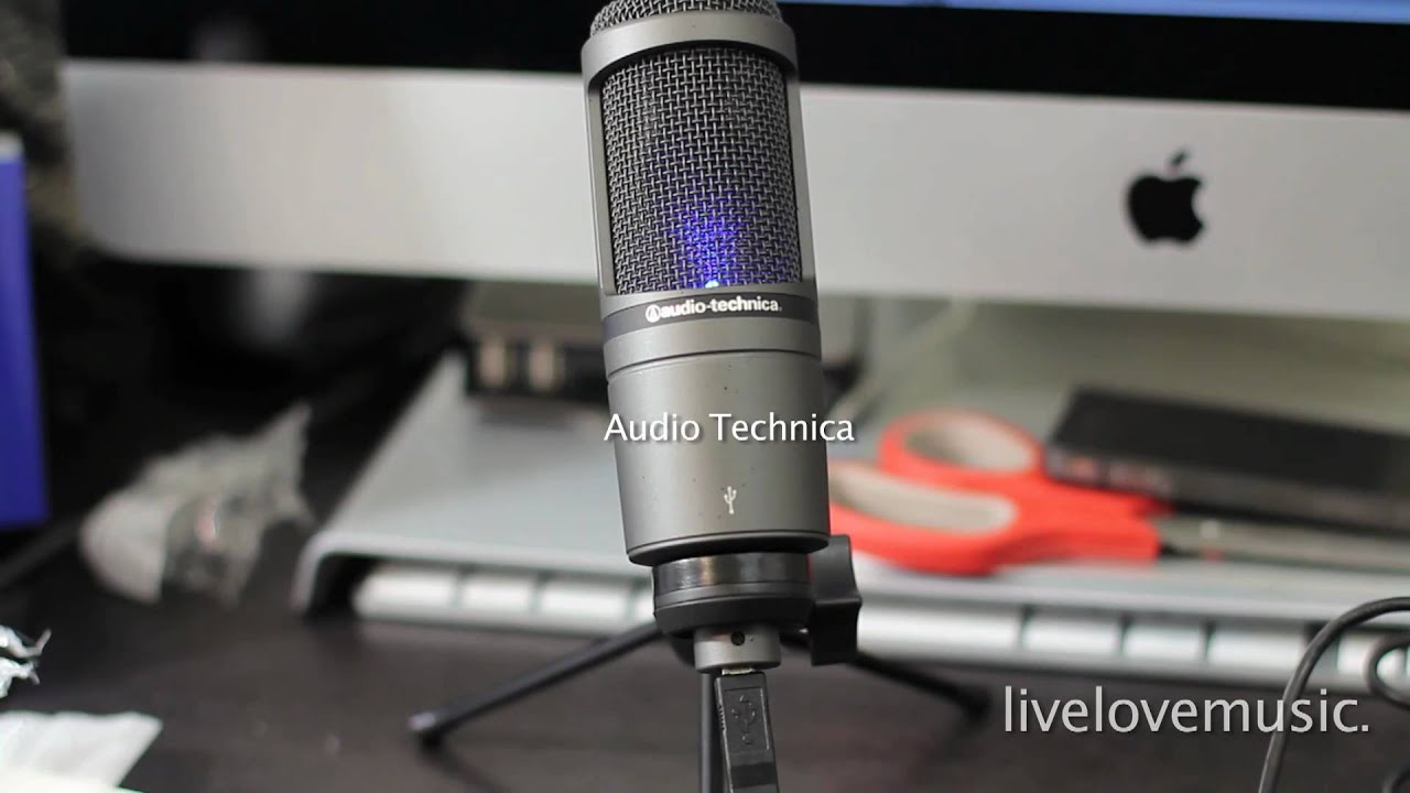 audio technica at2020 usb microphone unboxing sound test youtube. Black Bedroom Furniture Sets. Home Design Ideas