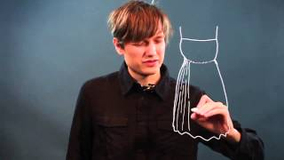How to Draw Pleats at the Waist of a Dress