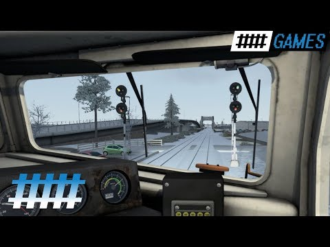 Train Simulator Cab Ride NJT F40PH-2CAT in Snow From Spring Lake, NJ to Asbury Park Station |