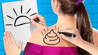 DESAFÍO DE DIBUJO DIVERTIDO  || Victorias dibujando | Desafío artístico divertido de 123 GO! GOLD