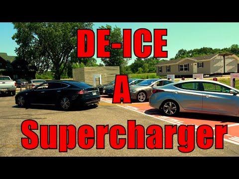 De-ICE A Tesla Supercharger!  Tow Strap + Torque