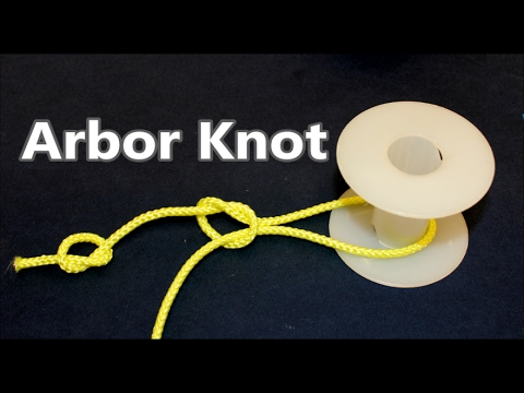 How To Tie The  Arbor Knot | Attaching Fishing Line To The Spool Center | Fishing Knots