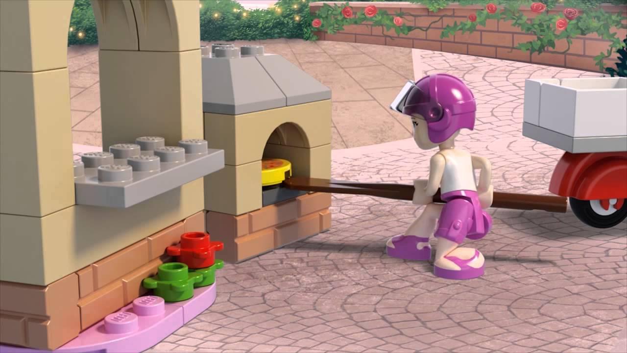 Lego Friends 41092 Pizzeria Stephanie Youtube