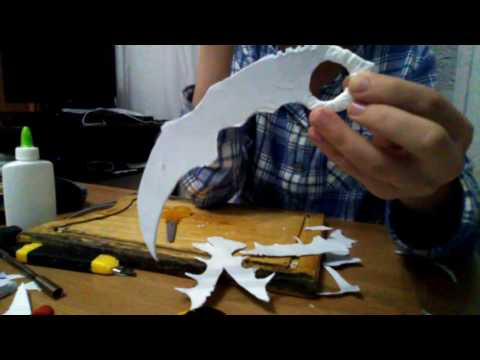 How to make a karambit from paper part 2