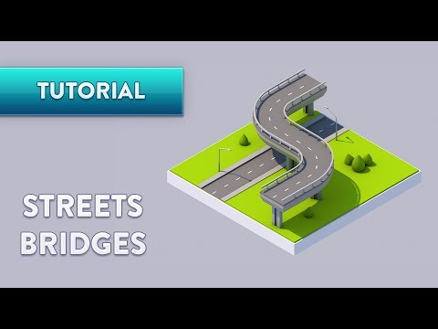 C4D TUTORIAL | Streets & Bridges (FAST)