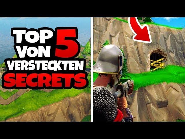 TOP 5 von VERSTECKTEN SECRETS - Fortnite Battle Royale Tipps und Tricks [GERMAN/ DEUTSCH]