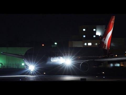 ✈✈QANTAS FREIGHT (Qantas Airways) Boeing 767-381F/ER  Landing Narita Airport RWY34R 成田空港