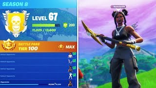 "*LEVEL 67* UNLOCKING MAX ""LUXE"" SKIN NOW! Fortnite Season 8 Live Gameplay"