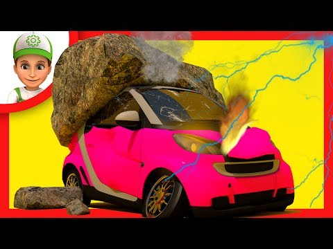 Cartoon for children. Handy Andy helps Emmy in the forest. Cars For Kids - little smart kids