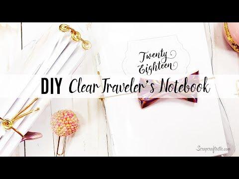 DIY: How to make a Clear Vinyl PVC Traveler's Notebook Cover | Scrapcraftastic