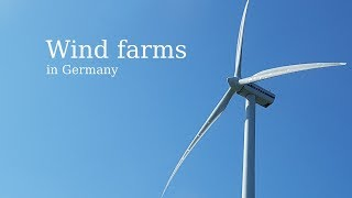 Windparks in Deutschland (entlang der Autobahn 14) / Wind farms in Germany (along the Autobahn 14)
