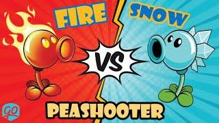 Fire Peashooter vs Snow Pea | Plants VS Zombies 2 | Fire VS Ice Zone (1)