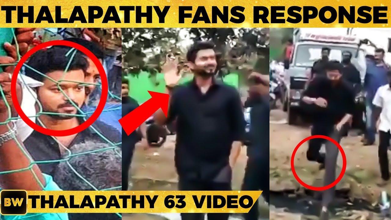 Thalapathy 63 Mass Moment Shooting Spot Video | Fans Reaction | Vijay | Nayanthara | Atlee | TK
