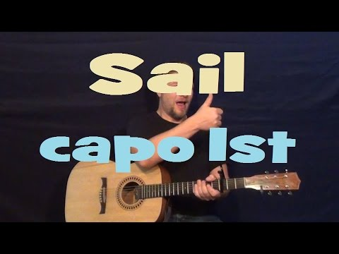 Sail (AWOLNATION) Easy Strum Guitar Lesson Chord How to Play Tutorial with Licks in Tab