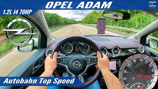 Opel Adam 1.2 70HP (2014) - Autobahn Top Speed Drive POV