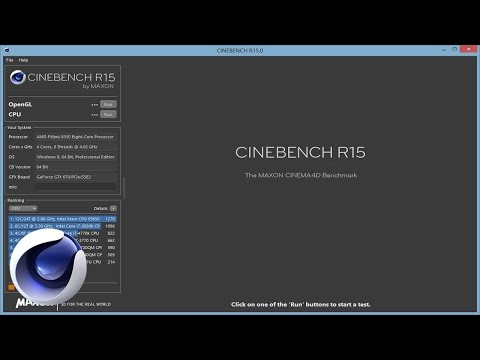 Тестирование производительности вашего компьютера в MAXON CINEBENCH R15