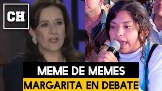 Trollean a Margarita en el Debate Presidencial - Carlos Chavira