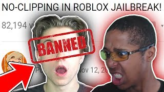 REACTING TO SKETCH NO-CLIP TROLLING IN ROBLOX JAILBREAK!