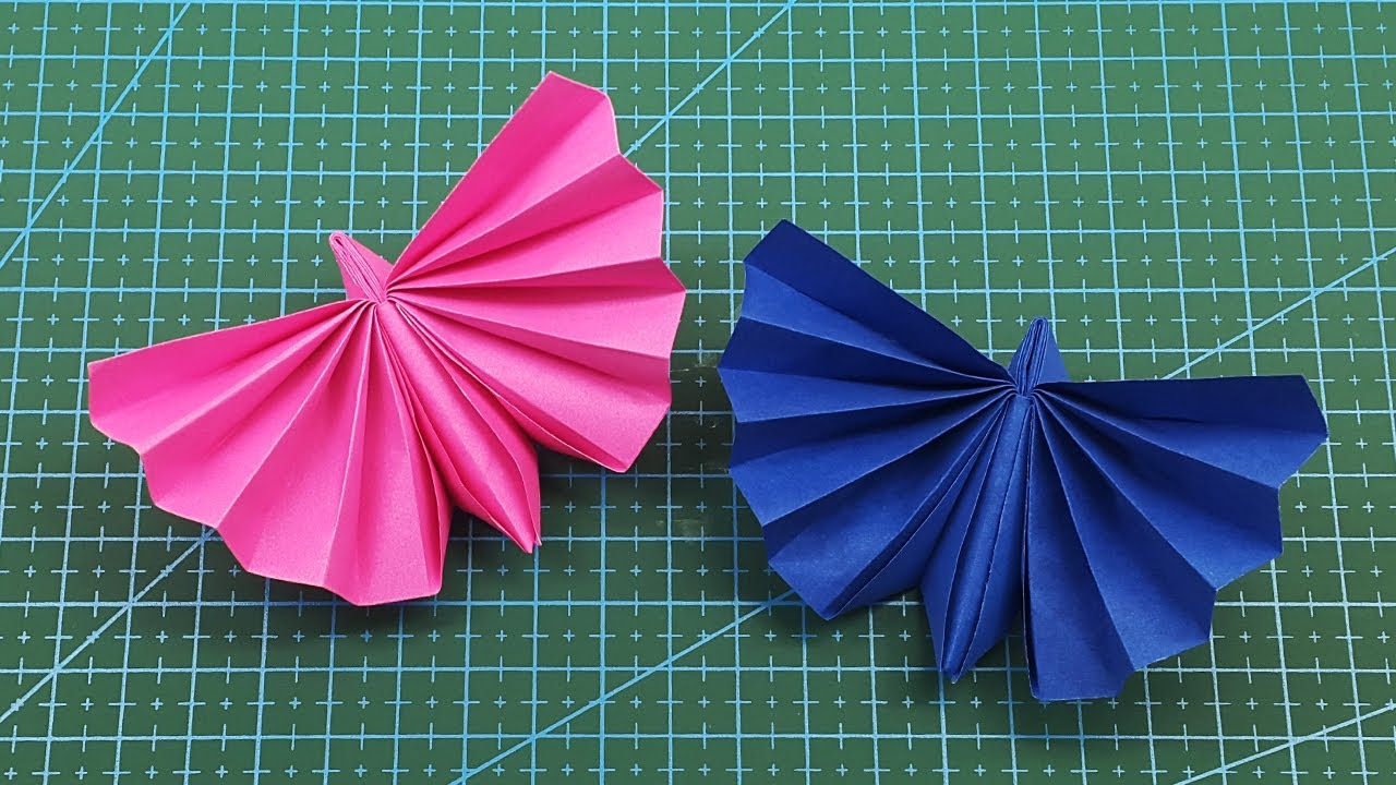 Easy Paper Butterfly Origami | Cute Paper Butterfly DIY | Crafts for School Projects