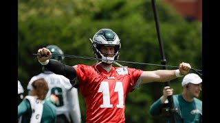 Eagles camp: Carson Wentz, DeSean Jackson connect